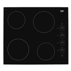 Beko HIC64102 Frameless Built-In Ceramic Hob (Knobs)