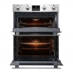 Belling BI702FPSTA S/Steel Built-In Double-Under Oven