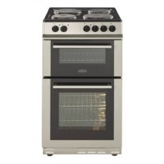 Belling FS50EFDOSIL Silver 444443926 50Cm Solid Plate Double Oven Cooker