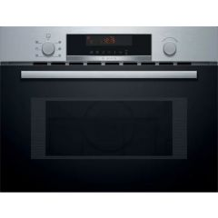 Bosch CMA583MS0B B/Steel Built-In Microwave With Hot Air Function