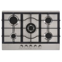Culina UBGHC701S S/Steel 70Cm Built-In Gas Hob (Unbranded / Lpg Conversion Kit Included)