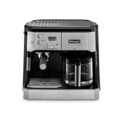 Delonghi BCO431.S Black Combi Coffee Machine, Traditional Pump Espresso And Filter Coffee