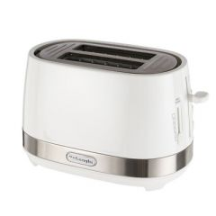 Delonghi CTLA2003WH White Active Line 2 Slot Toaster