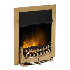Dimplex STM20BR Brass Stamford Optiflame Electric Inset Fire