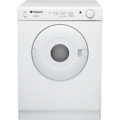 Hotpoint V4D01P White Compact Vented Dryer