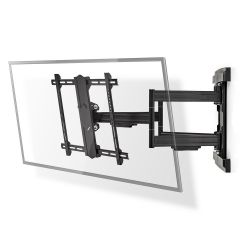 Nedis TVWM6551BK Black Full Motion TV Wall Mount | 37-80` | Max 70 Kg | 6 Pivot Points