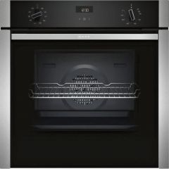 Neff B3ACE4HN0B S/Steel Built In Single Oven (Series N50 - Slide+Hide®)