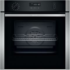Neff B5ACH7AH0B S/Steel Built In Single Oven (Series N50 - Slide+Hide®)