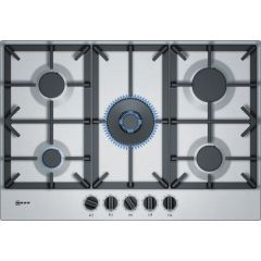 Neff T27DS59N0 S/Steel Built-In Gas Hob