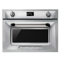 Smeg SF4920MCX S/Steel Built-In Compact Oven/Microwave