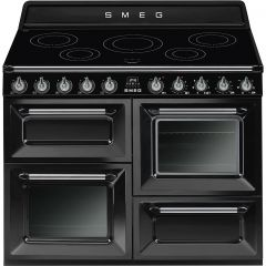 Smeg TR4110IBL Black Victoria 110 Electric Range Cooker With Induction Hob