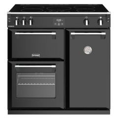 Stoves RICHMOND_444444445 Black 90Cm Electric Range Cooker With Induction Hob