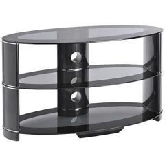 Ttap AVS-L607T-850-/3-BB Black/Glass Contour 850 TV Stand