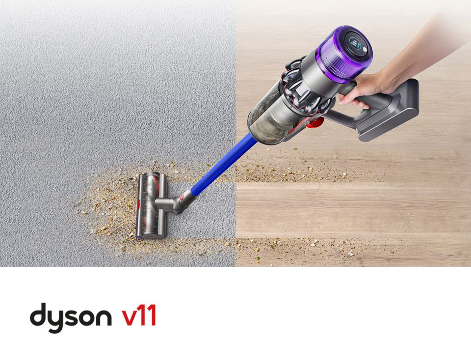 Dyson V11 Cordless Stick Vacuum in use