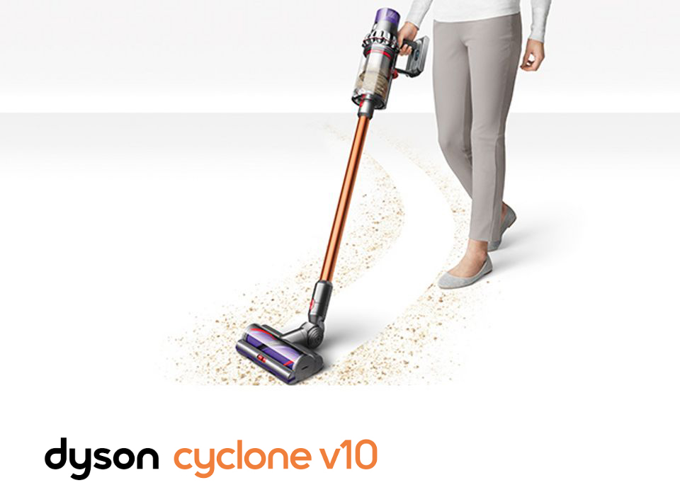Dyson Cyclone V10 in use