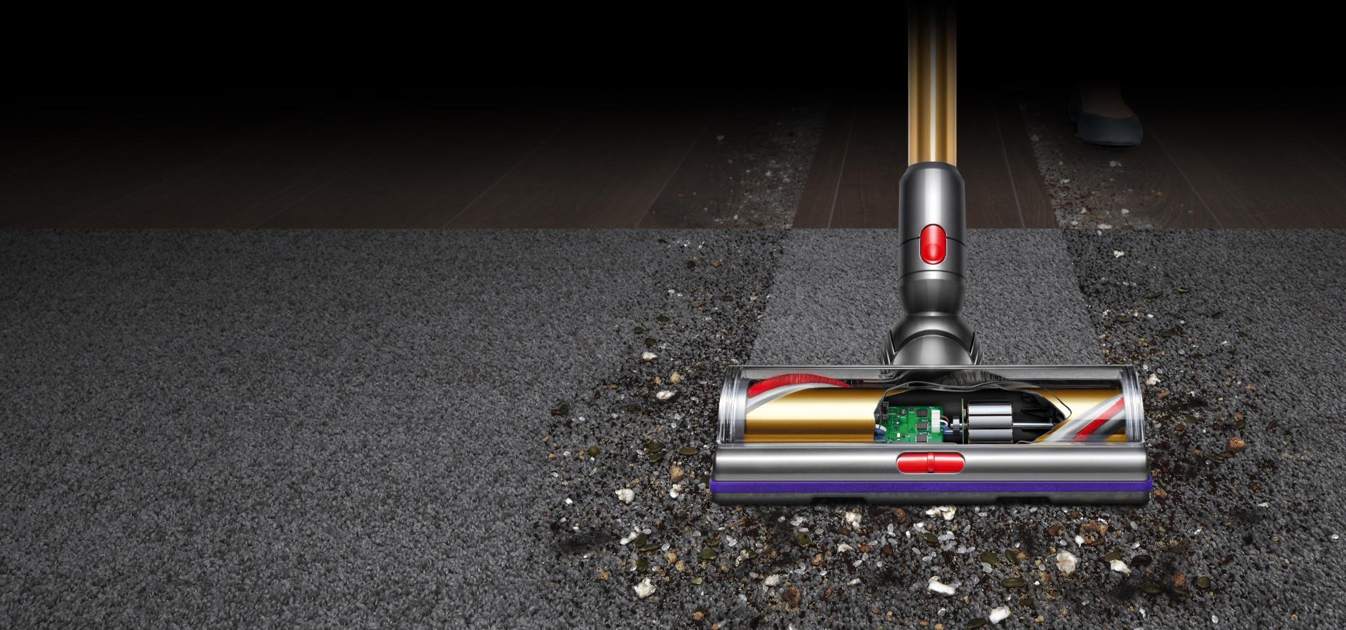 Dyson V11 intelligently adapts to different floor types